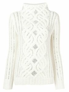 Ermanno Scervino crystal embellished sweater - White