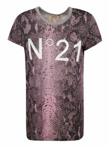 N.21 Snake-skin Effect Logo T-shirt