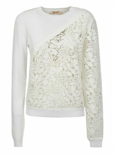 N.21 Perforated Floral Sweatshirt