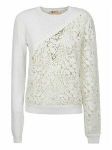 N.21 Perforated Floral Sweatshirt