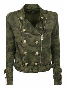 Balmain Double-breasted Camouflage Jacket