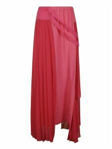 Iceberg Pleated Long Skirt