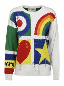 Iceberg Fringed Knit Sweatshirt