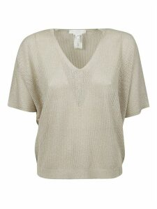 Fabiana Filippi Perforated V-neck Knit Top
