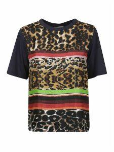 Pierre-Louis Mascia Stripe Patterned Leopard T-shirt