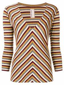 Antonio Marras metallic striped sweater - Red