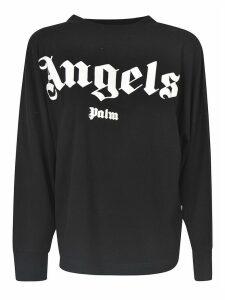 Palm Angels Logo Oversized Sweatshirt