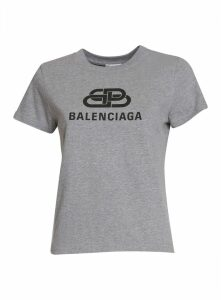 Balenciaga Logo Fitted T-shirt