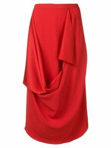 Chalayan draped detail skirt - Red