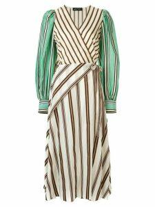 Anna October striped wrap dress - Multicolour