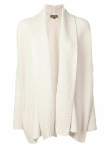 N.Peal Shawl Collar cardigan - NEUTRALS