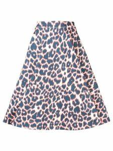 Calvin Klein 205W39nyc leopard print full skirt - Blue