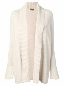 N.Peal open front cardigan - NEUTRALS