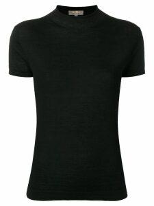 N.Peal mock neck fine knit top - Black
