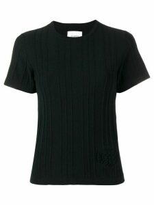 Barrie cashmere ribbed knit top - Black