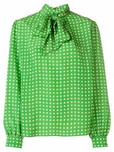 Saint Laurent starry print blouse - Green