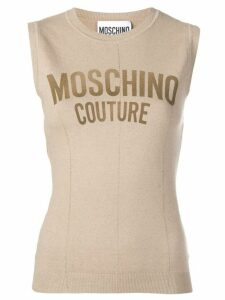 Moschino knitted tank top - NEUTRALS
