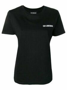 Han Kjøbenhavn embroidered logo T-shirt - Black