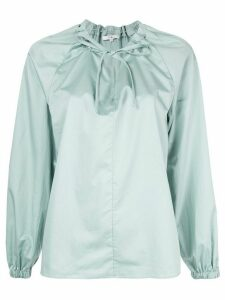Tibi drawstring detail blouse - Green