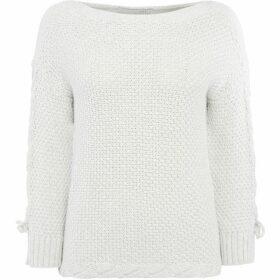 Oui Textured plait sleeve jumper