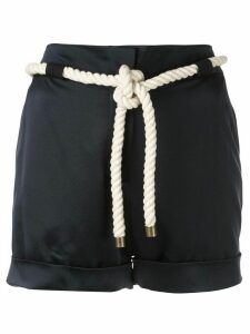 Monse tie waist shorts - Blue