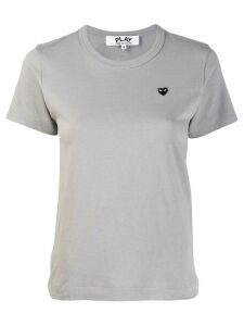 Comme Des Garçons Play Heart embroidered T-shirt - Grey