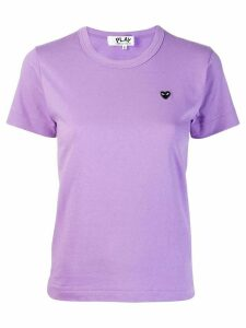 Comme Des Garçons Play Heart embroidered T-shirt - PURPLE