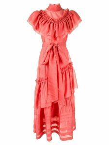 Anna October ruffle maxi dress - PINK