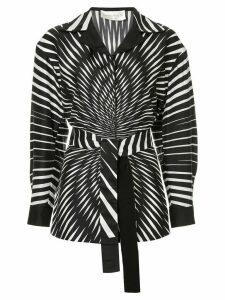 Alberta Ferretti belted shirt - Black