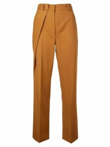 Cédric Charlier high-waisted trousers - Brown