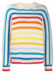 Chinti and Parker rainbow knit jumper - NEUTRALS
