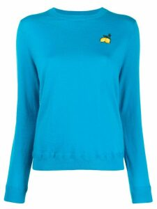 Chinti and Parker patch detail jumper - Blue