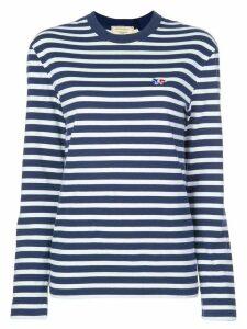 Maison Kitsuné striped T-shirt - Blue