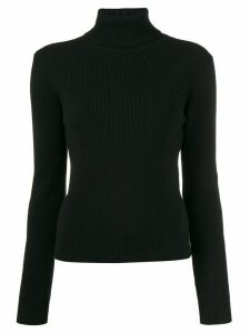 Saint Laurent cashmere ribbed turtle neck jumper - Black