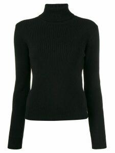 Saint Laurent cashmere ribbed turtle neck jumper - Black