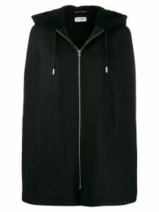 Saint Laurent cape-style hooded jacket - Black