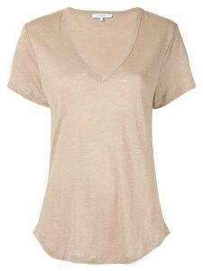 Venroy scoop neck T-shirt - Brown