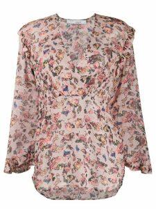 IRO Dollaa LS flowerprint blouse - PINK