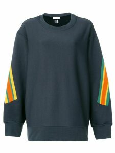 Facetasm oversized stripe detail sweatshirt - Black