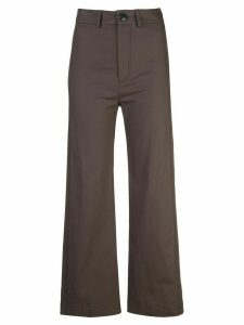 Sea plain flared trousers - Brown