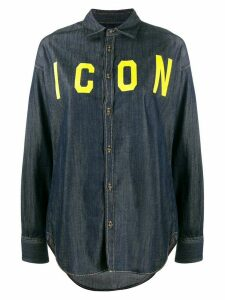 Dsquared2 icon denim shirt - Blue