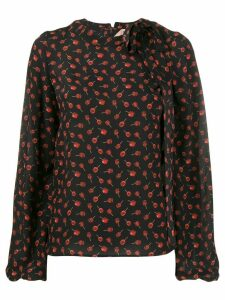 Nº21 floral long-sleeve blouse - Black