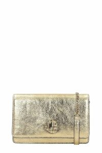Jimmy Choo Palace Clutch In Gold Leather