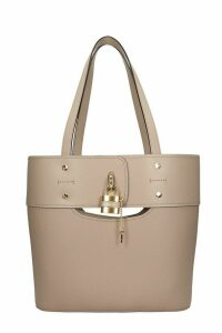 Chloé Aby Media Tote In Grey Leather