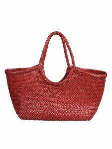 Dragon Diffusion Woven Basket Shopper Bag