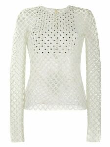 Philosophy Di Lorenzo Serafini mesh detail top - White