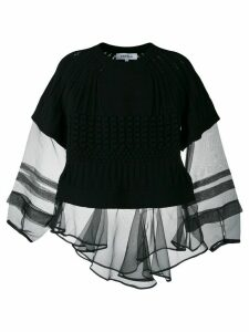 Enföld knitted layered top - Black