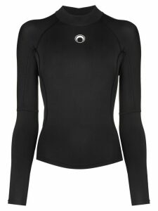Marine Serre Moon logo sports top - Black