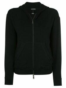 Dsquared2 velvet zipped hoodie - Black