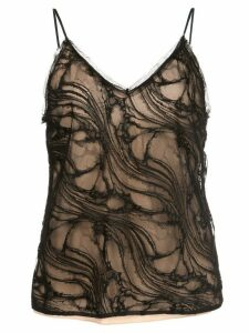 Jason Wu Collection lace detail camisole top - Black